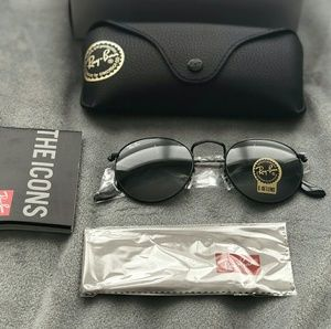 Ray-Ban Accessories - ALL BLACK ROUND RAY BAN AVIATOR 100% AUTHENTIC